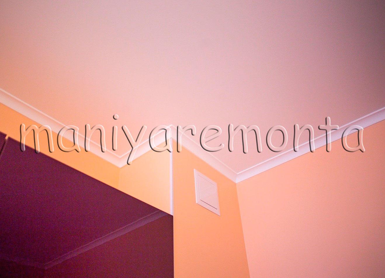 Как сделать белый ровный потолок