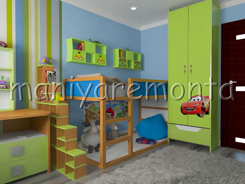 ремонт детской комнаты для мальчика 56 фото